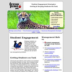 Student Engagement Strategies: Get and Keep Students on Task