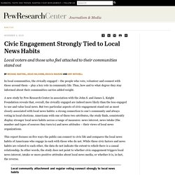 Civic Engagement Strongly Tied to Local News Habits