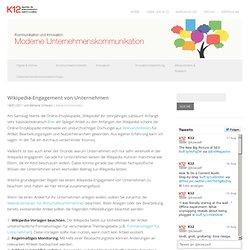 Wikipedia-Engagement von Unternehmen
