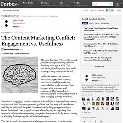 gyroVoice: The Content Marketing Conflict: Engagement vs. Usefulness