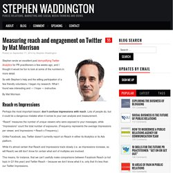 Measuring reach and engagement on Twitter by Mat Morrison