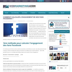 Comment calculer l'engagement de ses fans Facebook ?