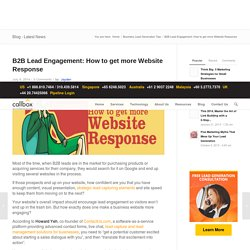 B2B Lead Engagement: How to get more Website Response