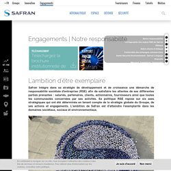 Engagements Groupe Safran