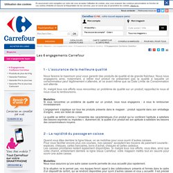 6 Engagements Confiance Carrefour