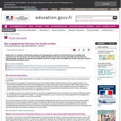 Des engagements forts pour les écoles rurales