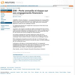 EMI - Perte annuelle et risque sur ses engagements financiers
