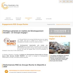 Engagements RSE Groupe Rocher