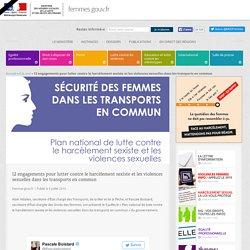12 engagements pour lutter contre le harcèlement sexiste et les violences sexuelles dans les transports en commun