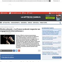 Droits culturels : « La France va devoir respecter ses engagements internationaux »