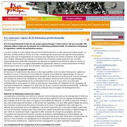 Repenser la formation par le travail et au travail (place publique 2015 dec)