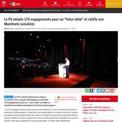 """Le PS adopte 170 engagements pour un """"futur idéal"""" et ratifie son Manifeste socialiste"""