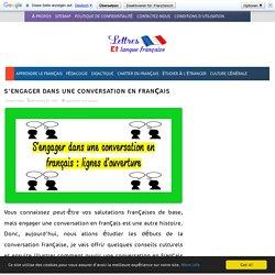 S'engager dans une conversation en français