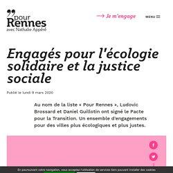 Engagés pour l'écologie solidaire et la justice sociale