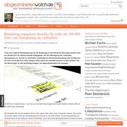Bundestag engagierte Anwälte für mehr als 100.000 Euro, um Transparenz zu verhindern