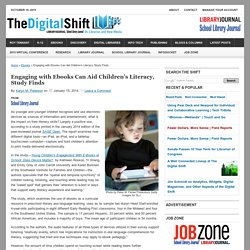 Engaging with Ebooks Can Aid Children's Literacy, Study Finds