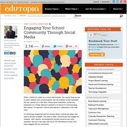 Engaging Your School Community Through Social Media
