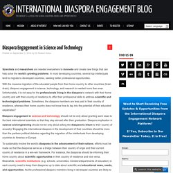 Engaging the Global Diaspora in Science and Technology