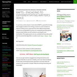 RAFTs – Engaging to Differentiating Writer's Voice