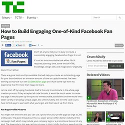 How to Build Engaging One-of-Kind Facebook Fan Pages