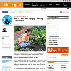 How to Grow an Engaging Learning Environment