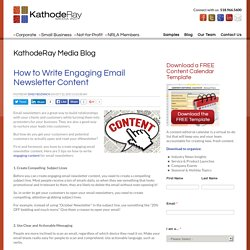 How to Write Engaging Email Newsletter Content
