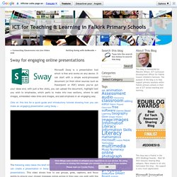 Sway for engaging online presentations