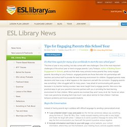 Tips for Engaging Parents this School Year