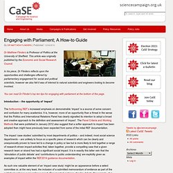 Engaging with Parliament; A How to Guide