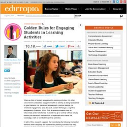 Golden Rules for Engaging Students in Learning Activities