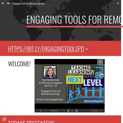 Engaging Tools for Remote Learning