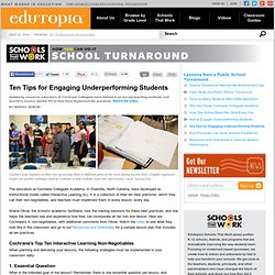 Ten Tips for Engaging Underperforming Students