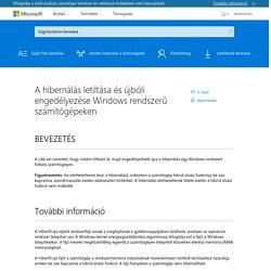 A hibernálás letiltása és újbóli engedélyezése Windows rendszerű számítógépeken