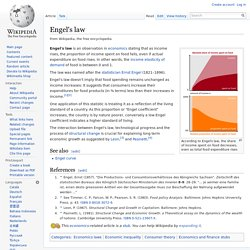 Engel's law