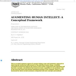 Engelbart: Augmenting Human Intellect (1962)