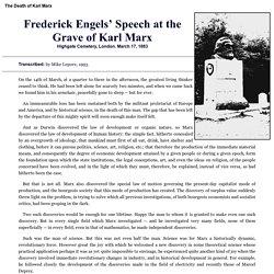 Engels' burial speech