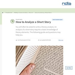 Engelsk Vg1 - How to Analyze a Short Story