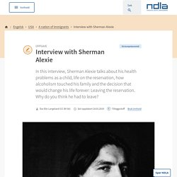 Engelsk - Interview with Sherman Alexie