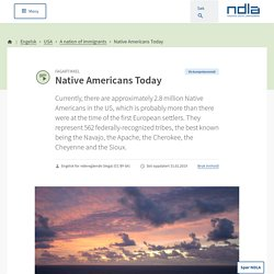 Engelsk - Native Americans Today