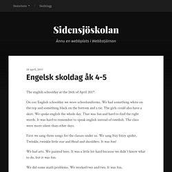 Engelsk skoldag åk 4-5 – Sidensjöskolan