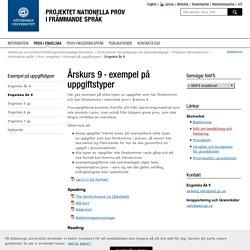 Engelska åk 9 - Nationella prov i främmande språk, Göteborgs universitet