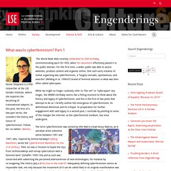 Engenderings – What was/is cyberfeminism? Part 1