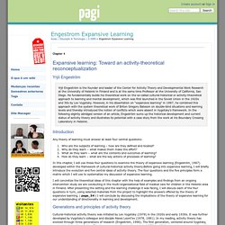 Engestrom Expansive Learning - pagi