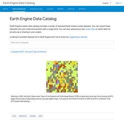 Earth Engine Data Catalog