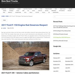 2017 Trucks Worth Waiting For