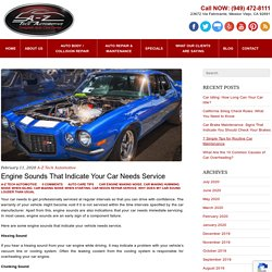 Engine Sounds That Indicate Your Car Needs Service