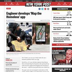 Engineer develops 'Map the Homeless' app