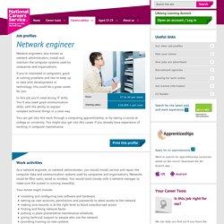 Network engineer Job Information