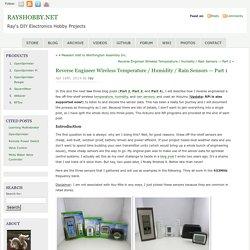 Reverse Engineer Wireless Temperature / Humidity / Rain Sensors — Part 1