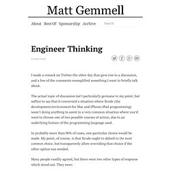 Engineer Thinking